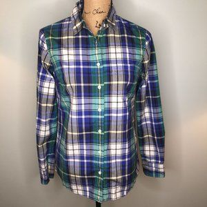 J. Crew Quincy Tartan Plaid Boy Shirt Button Down
